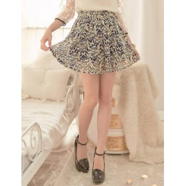 Dolce Flared Lace Skirt with Embroidered-Floral For Women Size:S-L