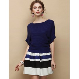 Stylish A-Line Skirt with Striped Pattern For Women Size:S-L