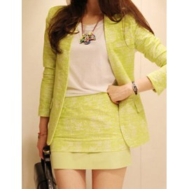 Stylish Blazer and Slim Fit Panel Skirt For Women Size:S-XL