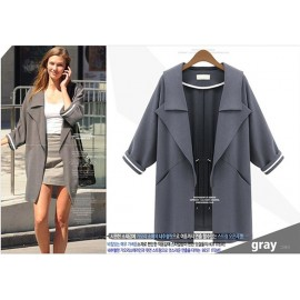 Fashion NEW Arrival Autumn Europe Womens Sweatshirt Trench Coat Overcoat
