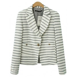 Delicate Splicing Slim Fit Blazer in Single Button