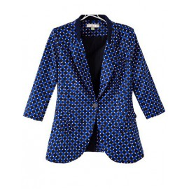 Vibrant Squared Pattern Slim Fit Blazer in Flap Pockets