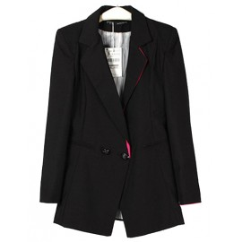 Graceful Splicing Trim Blazer in Slim Fit