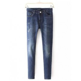 Street Colorblocked Hip Pocket Washed Mid-Rise Jeans in Color Panel Size:S-XL
